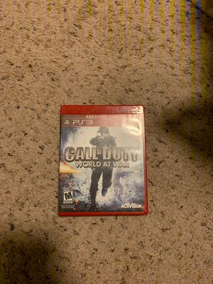 Call of Duty World at War PS3 for Sale in Antioch, CA