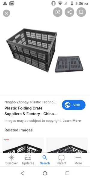 Folding crates for Sale in Garden Grove, CA