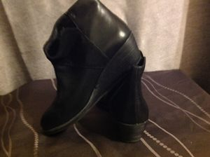 Emu black leather ankle boots with wedged heal for Sale in Sunnyvale, CA