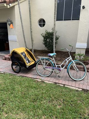 Burley bee bike trailer with free Bicycle for Sale in Southwest Ranches, FL