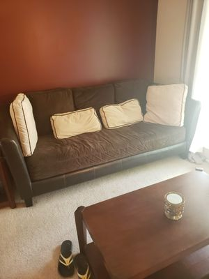 Brown Suede Couch for Sale in Bloomington, IL