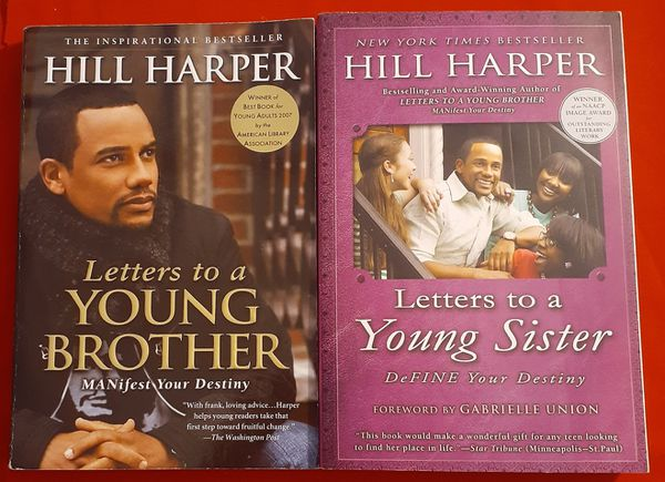 (2) Hill Harper Books Letters to a Young Brother & Sister