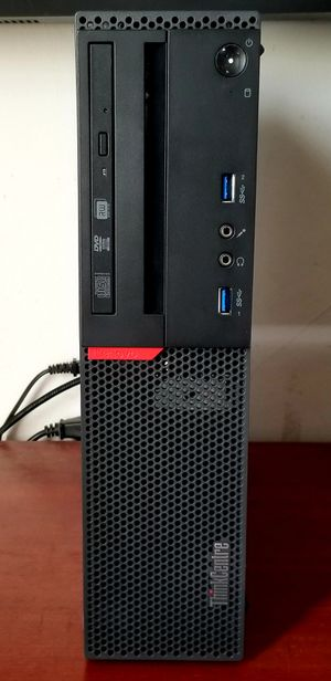 LENOVO THINKCENTRE M800 SFF DESKTOP COMPUTER  - I5 6500, 16GB DDR4, 256GB SSD, 500GB HDD, WIN 10 PRO - PERFECT FOR WORK AT HOME & DISTANCE LEARNING for Sale in Fresno, CA