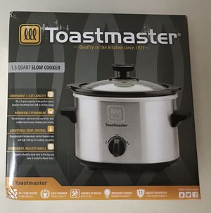 New Toastmaster 1.5 Quart Slow Cooker Kitchen Appliance for Sale in Land O Lakes, FL
