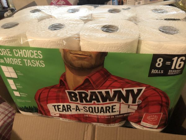 Brawny Paper Towels - 8pk of 2-ply double rolls
