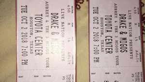 Pair of Drake concert tickets $130 for Sale in Rosharon, TX