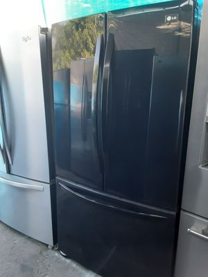 $599 LG black gloss finish French door bottom freezer fridge includes delivery in the San Fernando Valley a warranty and installation for Sale in Los Angeles, CA