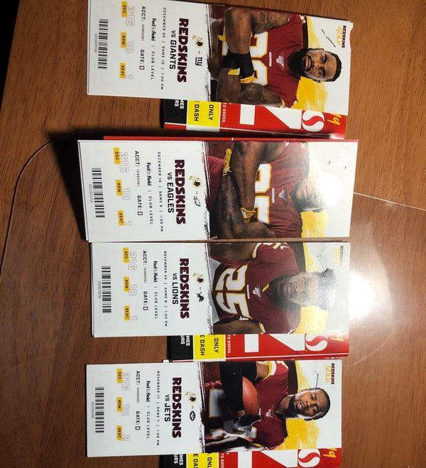 Redskins tickets