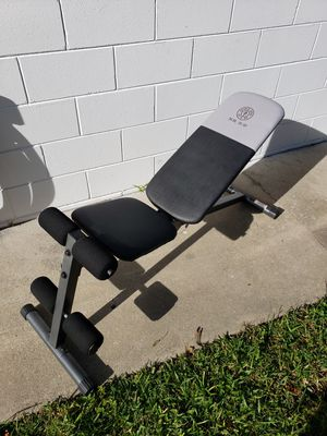 Weider golds gym adjustable weight bench for Sale in Orlando, FL