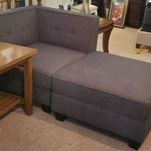 Corner Chair and Ottoman (Chaise) Gray for Sale in Portland, OR