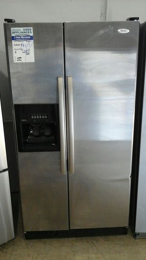 SS Whirlpool Side by Side Refrigerator Affordable82 for Sale in Englewood, CO