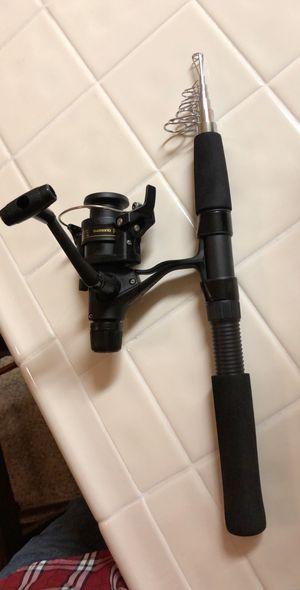 Telescopic Fishing Rod & Shimano Reel for Sale in Fresno, CA