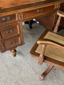 Beautiful Small Antique Desk And Chair for Sale in Tustin,  CA