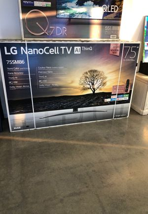 """75"""" LG NANO CELL DISPLAY 4K HDR SMART TV 4K SMART 2160p LED for Sale in Ontario, CA"""