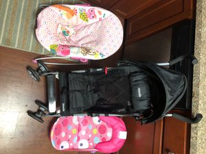 Stroller and 2 baby bouncer seats for Sale in Virginia Beach, VA