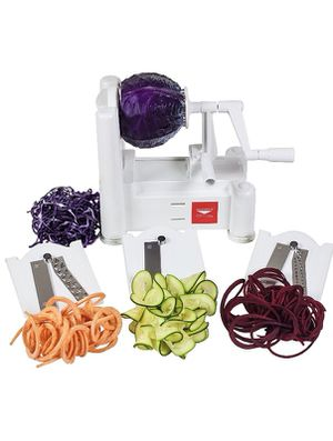 Paderno World Cuisine 3-Blade Vegetable Slicer / Spiralizer, Counter-Mounted and includes 3 Stainless Steel Blades for Sale in Washington, DC