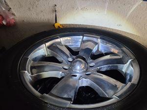 "Wheels and tires p285/50r20"" 6 lug Silverado Tahoe Yukon escalade avalanche gmc 6x5,5 or 6x139,7 for Sale in Riverside, CA"