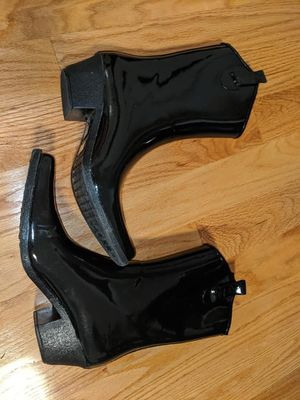 Women black cowboy rain boots size 11 shoes pick up SF, total $14 for Sale in Daly City, CA