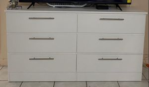 NEW BLaCK DRESSER white New -COMODA-GAVETERO-BLACK or WHITE). for Sale in Miami, FL
