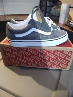 Woman's size 8 grey and white Vans for Sale in Lynn, MA