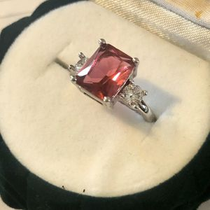 NEW Sterling Silver Ruby Large 8mm Ring - Size 8 for Sale in Jefferson City, MO