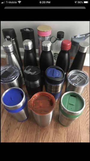 Water bottles and thermos of different sizes are some and new $ 3 each cash only for Sale in Nashville, TN