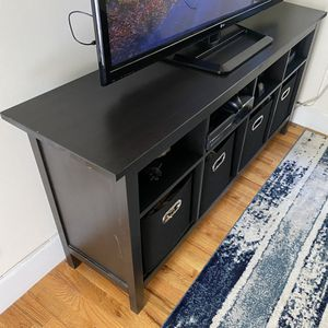 Black-Brown TV Stand / Entertainment Center for Sale in New York, NY