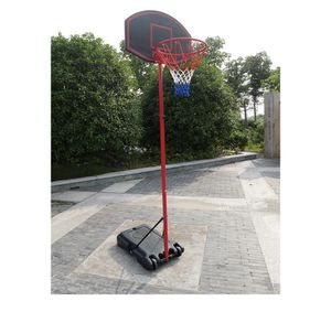 Ktaxon 5.2ft to 7.2ft Adjustable Basketball Goal, Portable Removable Basketball Hoop Stand with Wheels, Backboard, Rim Net, for Kids Teenager Indoor/ for Sale in Sun City, AZ