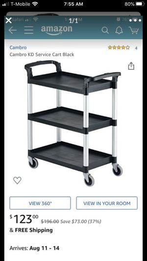 Cambro KD service cart for Sale in San Diego, CA