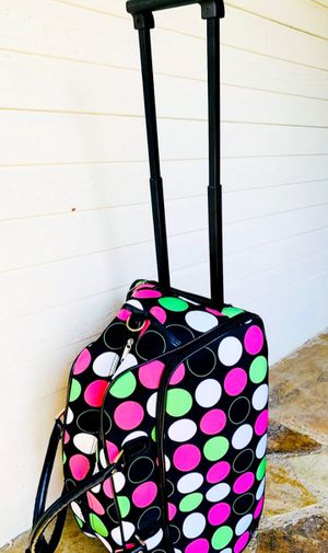 Rolling Polka Dots SUITCASE for Sale in Arlington, TX