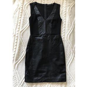 Mini black dress, faux leather for Sale in Pasadena, CA