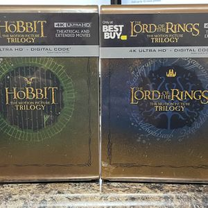 Lord Of The Rings/The Hobbit 4K Steelbook Best Buy Exclusive for Sale in Oswego, IL