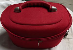 Beautiful Red Fabric Modern Train Case for Sale in Tampa, FL