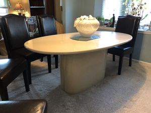 Formica Almond Bisque Formal Dining Table With Chairs for Sale in Virginia Beach, VA