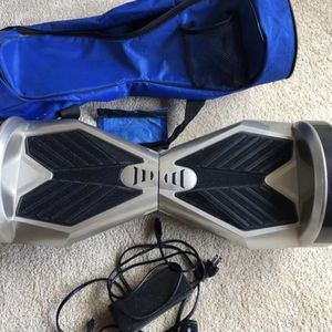 "SILVER 8"" RACING LAMBO PERFORMANCE HOVERBOARD WITH BLUETOOTH SPEAKER + REMOTE + BAG for Sale in Wake Forest, NC"