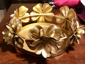 Gold Floral Candle Holder for Sale in St. Louis, MO