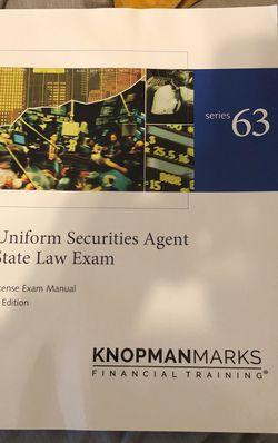 Series 63 Knopman Marks Exam Manual for Sale in Atlanta,  GA