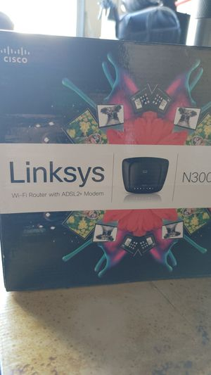 Linksys N300 All in One Wi-Fi Router with ADSL2 + Modem for Sale in Seattle, WA