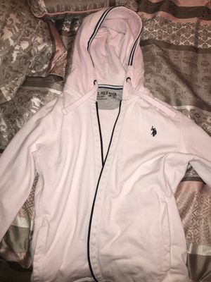 Very light pink U.S polo hoodie size small could fit medium for Sale in Anaheim, CA