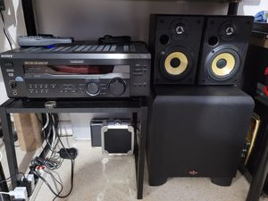 "Sony reciever/klispch powered sub 10"" for Sale in Clearwater, FL"