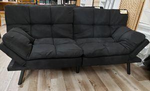 NEW Black Microsuede Futon Sleeper Sofa for Sale in Burlington, NJ