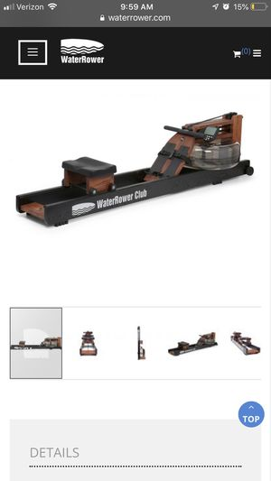 WATER ROWER CLUB ROWING MACHINE WITH S4 MONITOR for Sale in Austin, TX
