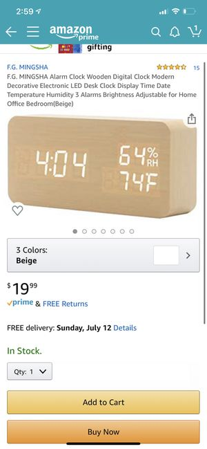 New!! LED alarm clock ⏰ 🌵near cactus and 55th ave for Sale in Glendale, AZ
