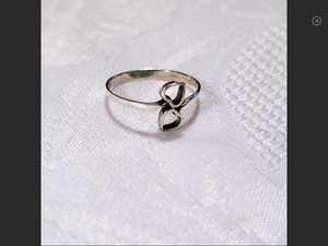 NWT Dainty Sterling Silver Double Open Hearts Ring Size 7, 8 or 9 for Sale in Bartow, WV