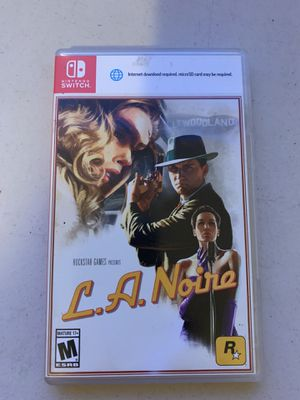 Nintendo Switch L.A. Noire for Sale in San Diego, CA