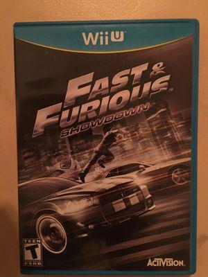 Nintendo Wii U fast and furious showdown for Sale in Visalia, CA