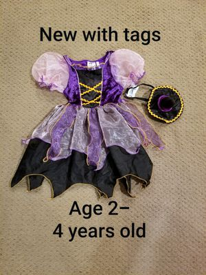 Halloween brand New with tags age 2-4 years adorable witch costume for Sale in Renton, WA