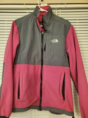 Women's The North Face Fleece Jacket Pink and Grey Size Large for Sale in Elgin, IL