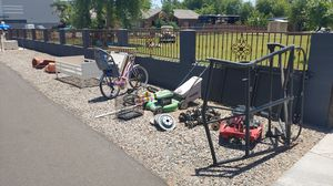 Free , steel, bunk bed , lawn mower and 57 Chevy Fenders for Sale in Gilbert, AZ
