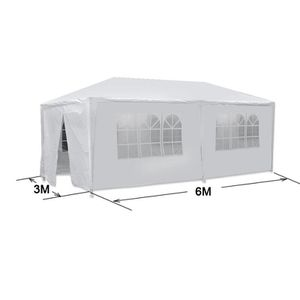 10x20 White Outdoor Gazebo Canopy Wedding Party Tent 6 Removable Window Walls for Sale in Wildomar, CA